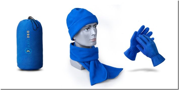 4 Pieces Fleece Winter Set