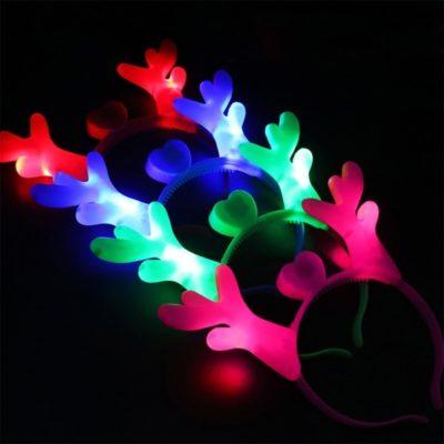 Glowing LED Reindeer Antler Headbands