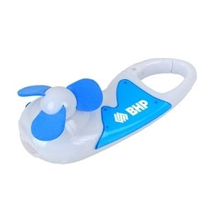 Handheld Fan with Carabiner & LED Light