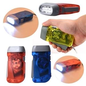 Wind Up Hand Pressing Crank Emergency Camping LED Flashlight
